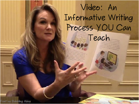 Video and blog post on an effective way to teach informative writing K-5