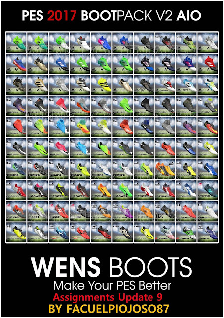PES 2017 WENS BootPack v2 AIO with Boots Assignments Update 9