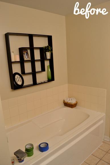 Boring beige bathroom before