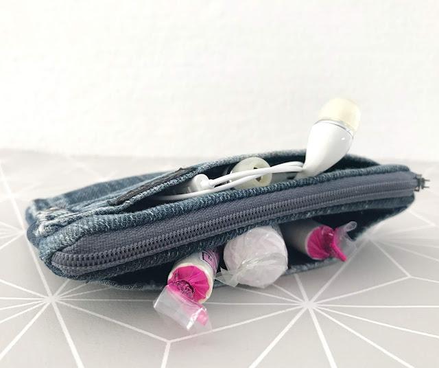 mit Strich und Faden: Jeans Taschen Täschchen