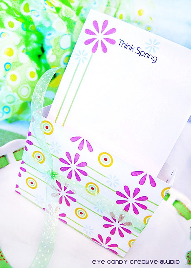 stationery box, teachers gift idea, spring gift idea, spring stationery set