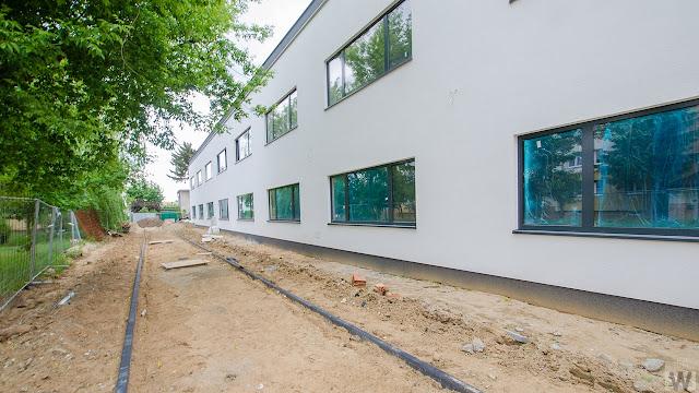 Budowa przy ulicy Łomżyńskiej w Bydgoszczy