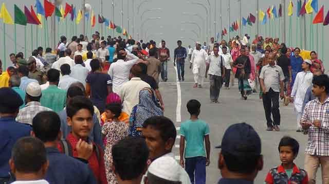 কুড়িগ্রামের ফুলবাড়ীতে শেখ হাসিনা ধরলা সেতু'র উদ্বোধন