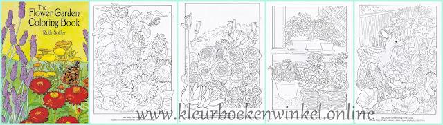 kleurboek flower garden