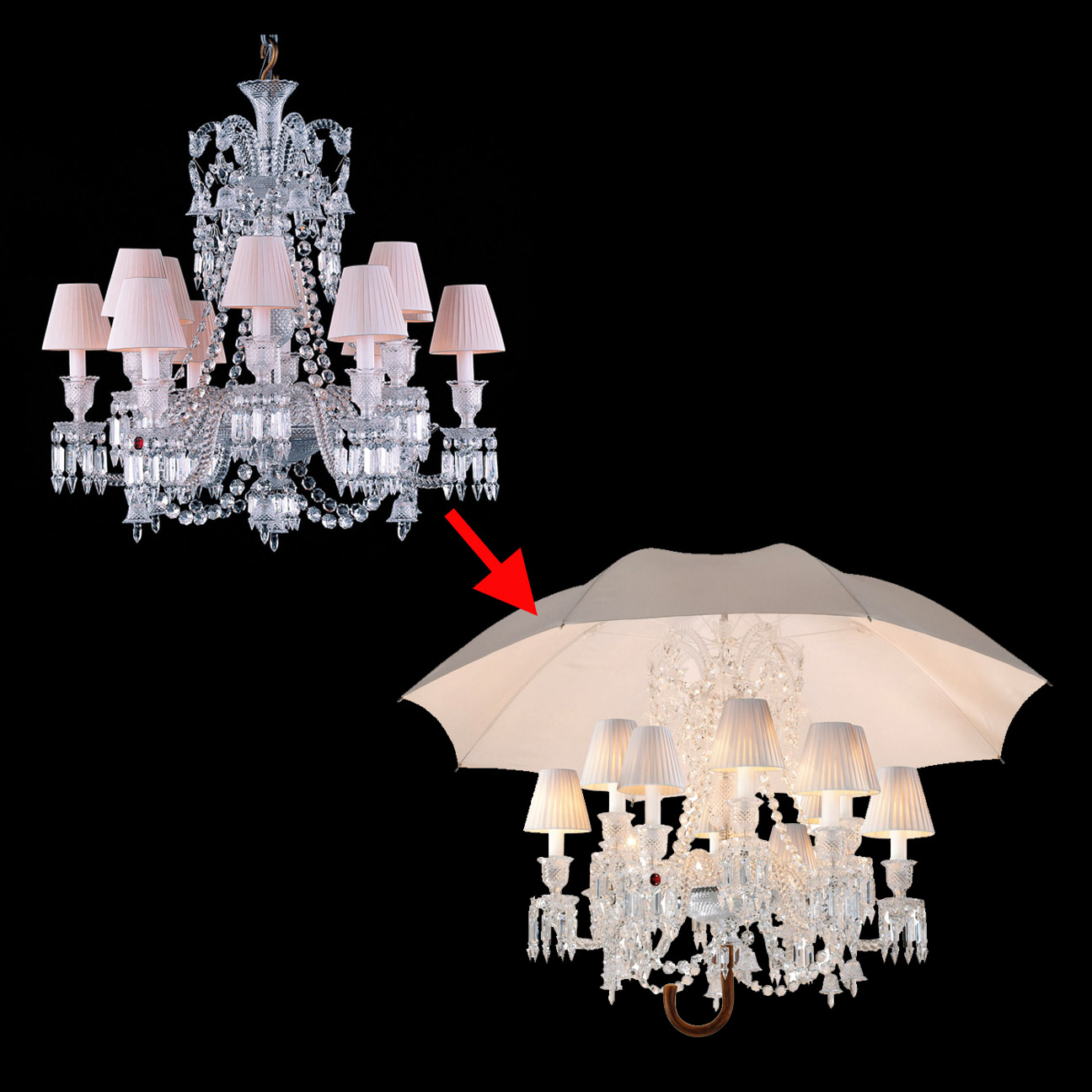 If its hip its here archives philippe starck gives a modern philippe starck gives a modern makeover to baccarats traditional zenith chandelier arubaitofo Images