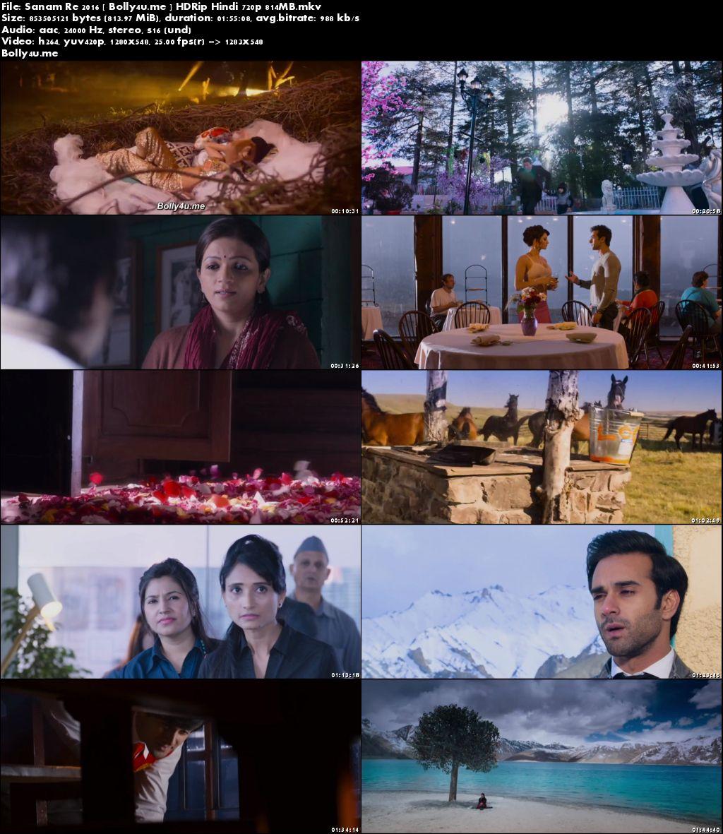 Sanam Re 2016 HDRip 800MB Full Hindi Movie Download 720p