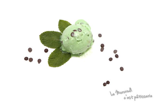 Crème glacée menthe - chocolat