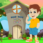 Games4King Cute Boy Escape From Green Garden House