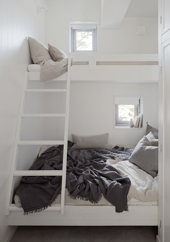 Cozy loft bed | m.arkitektur via Home Adore