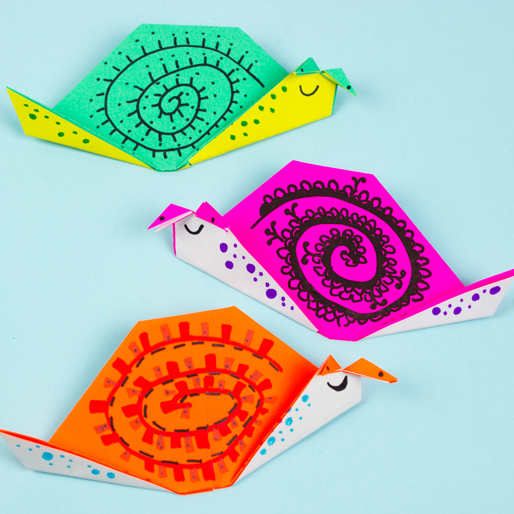 Origami Snail Tutorial & Quick Overview of 'The Origami Garden' by ... | 1000x1000