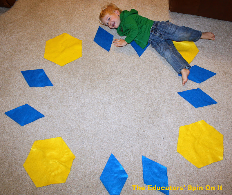 The Educators Spin On It Giant Pattern Blocks Teaching