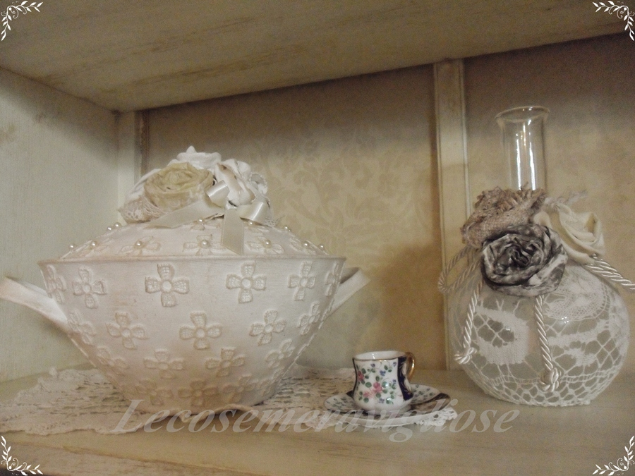 lecosemeravigliose shabby e country chic passions shabby chic e charme potish portacandele bouquet. Black Bedroom Furniture Sets. Home Design Ideas