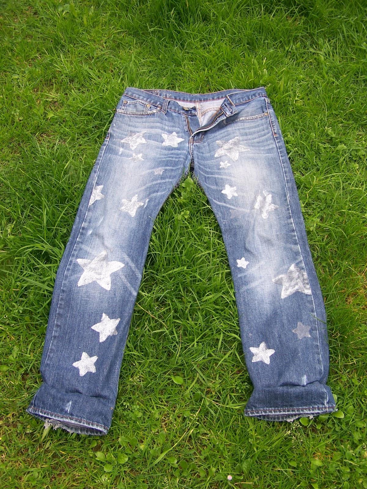 Madialeva Hm Reciclar Jeans Pintura Metalizada