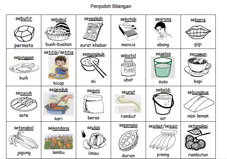 Penjodoh Bilangan Bahasa Melayu Berdasarkan Gambar Ransangan Great Teacher