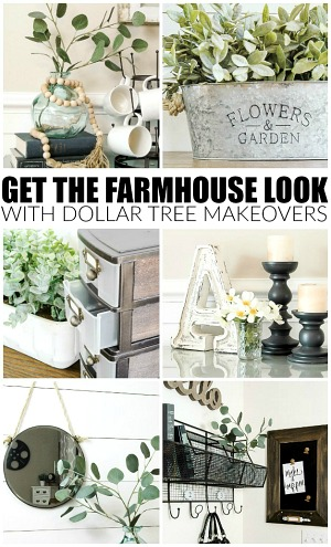 Dollar Tree farmhouse makeovers