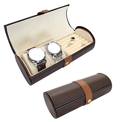 Buy Nile Corp Wholesale Ikee Design Leatherette Watch Bracelet Ring Storage Travel Jewelry Case