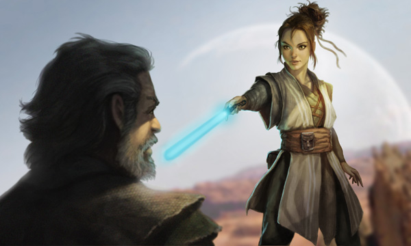 More Luke and Rey (Illustrated by Lindberg)