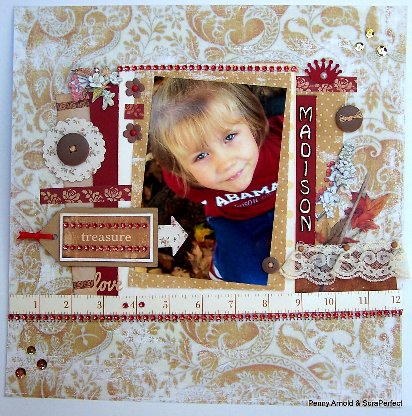 Titlehow To Cluster Embellishments On A Scrapbook Layout Scrap Aholic