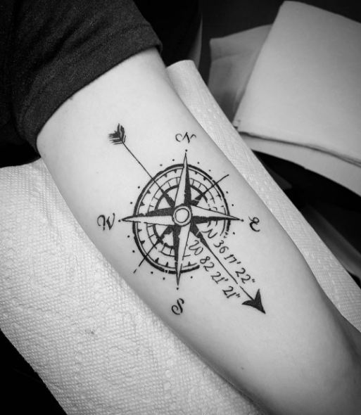50 Impressive Compass Tattoos Designs and Ideas (2018) - Page 2 of 5 ...