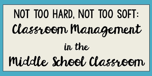 Have classroom management that is not too hard and not too soft.