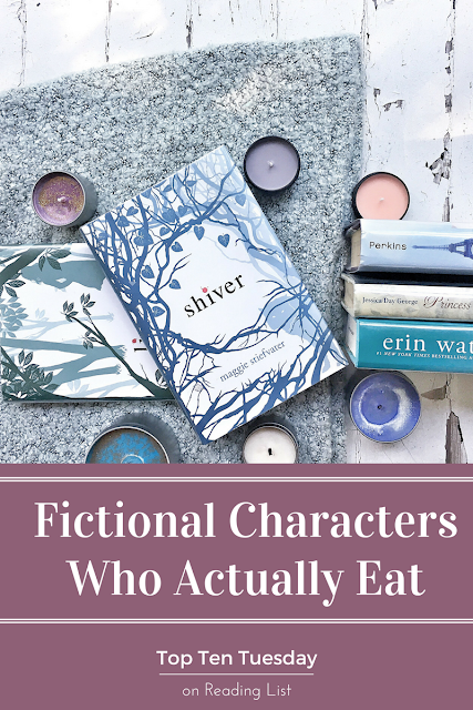 Top Ten Tuesday - Fictional Characters who actually eat food