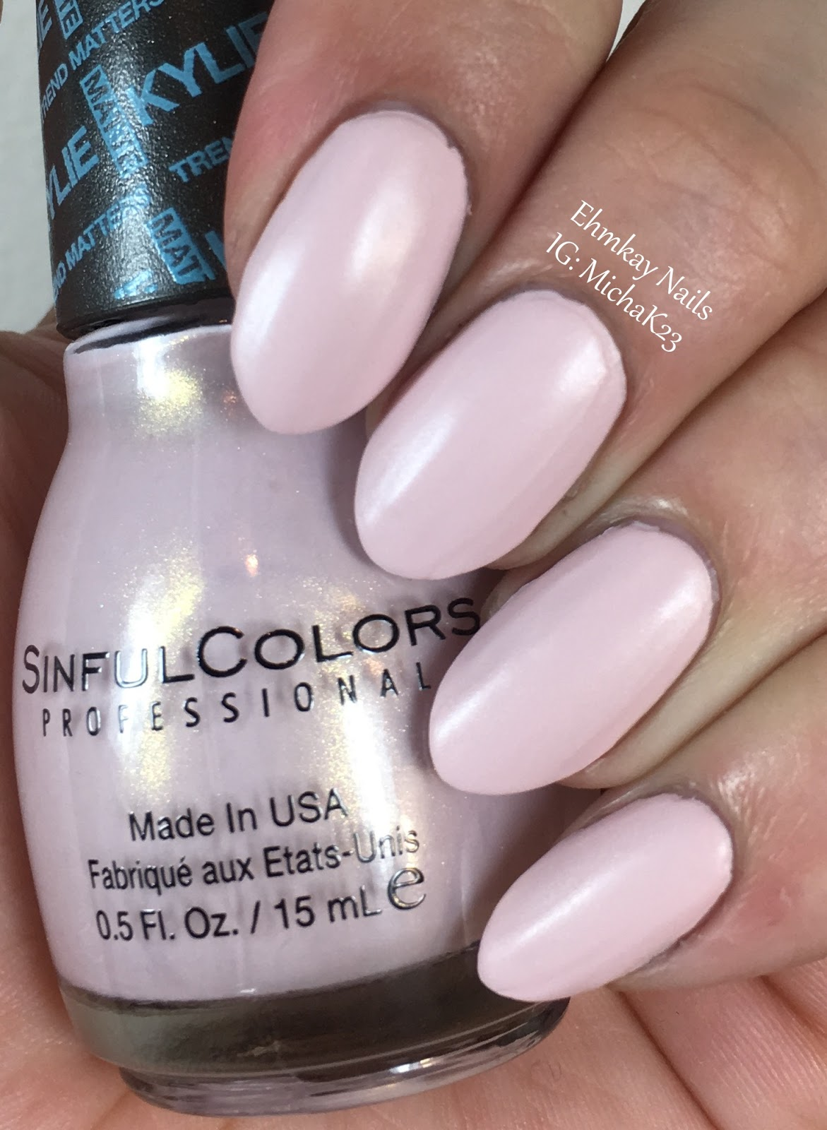 ehmkay nails: Sinful Colors Kylie Jenner Trend Matters Pure Satin ...