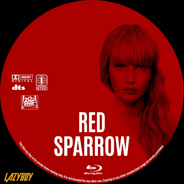 Red Sparrow Bluray Label