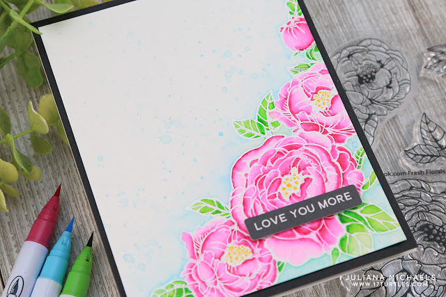 Love You More Card by Juliana Michaels featuring Scrapbook.com Fresh Florals and Berries Stamp Set