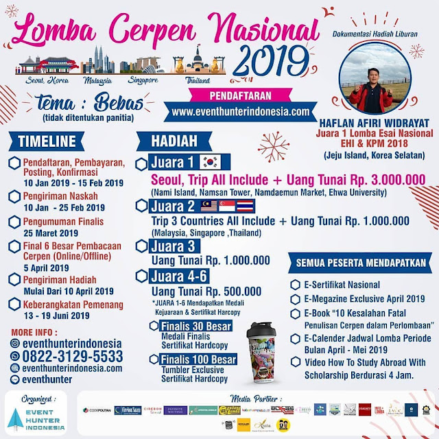 Lomba Cerpen Nasional Event Hunter Indonesia 2019