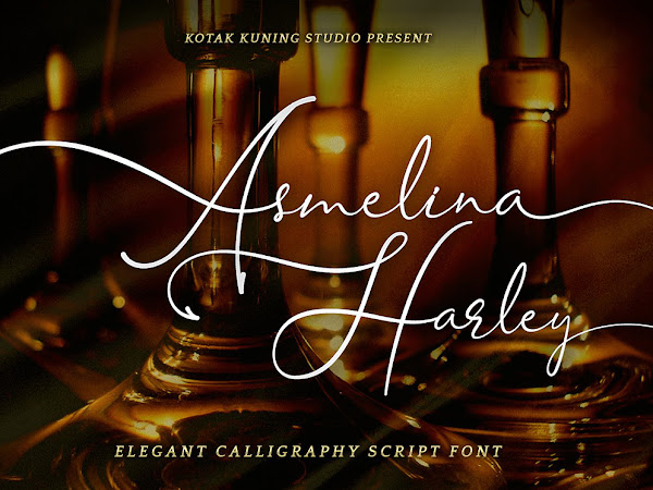 Asmelina Harley Script layered Font Free Download