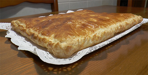 receta Pastel de hojaldre jamon queso