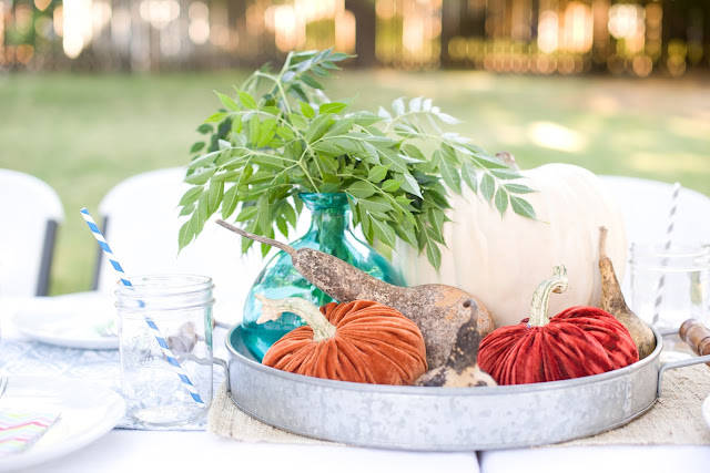 Backyard Fall Tablescape