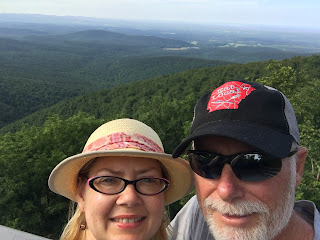 Selfie of Charlie and me at the Lovers' Leap overlook
