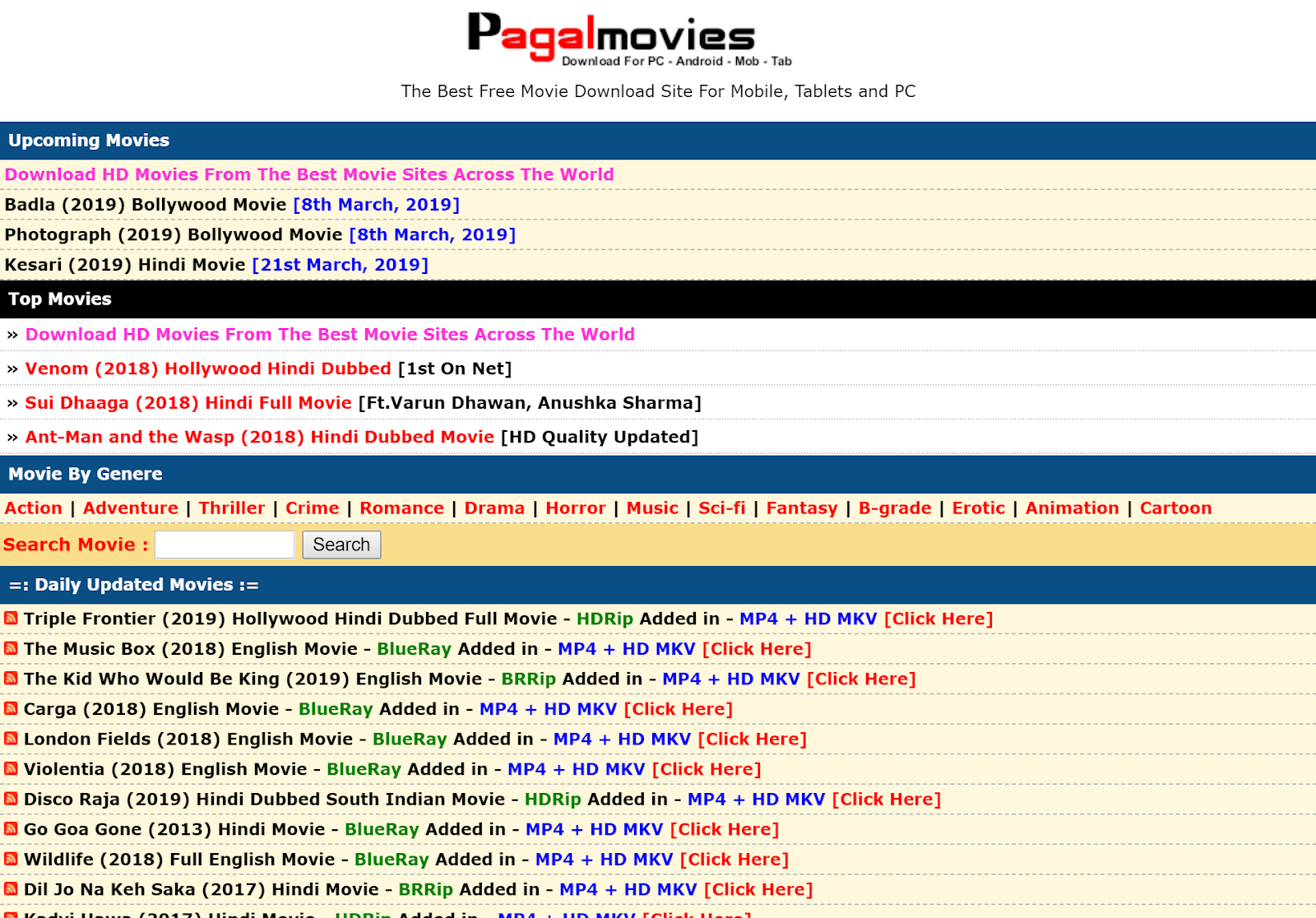 free download of hd movies for mobile