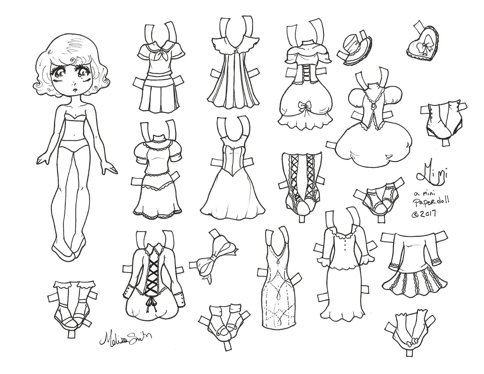 Miss Missy Paper Dolls Mimi A Mini Paper Doll