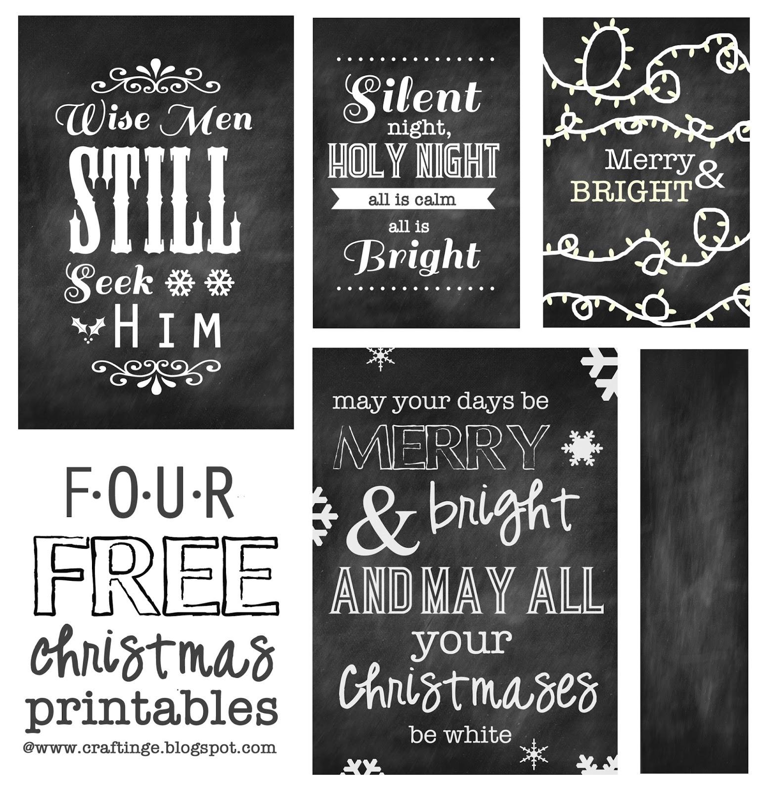 Crafting E Four Free Christmas Printables
