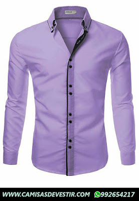 Camisa Lila Slim Fit  Ancash