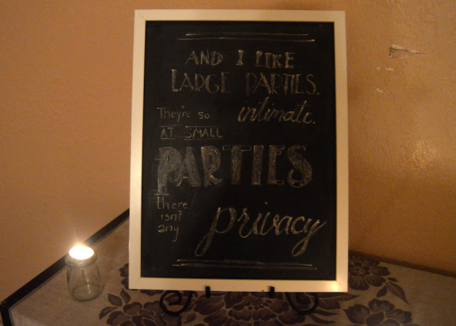 Gatsby party, chalkboard quotes, goodbye roaring 20s, hello 30