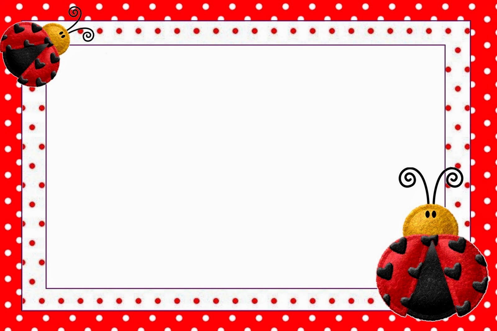 Ladybugs: Free Printable Invitations. | Oh My Fiesta! in english
