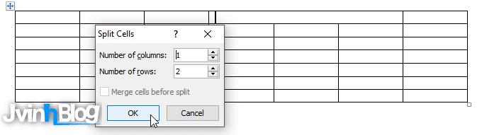 Làm bài tập tạo bảng trong Word (#2)