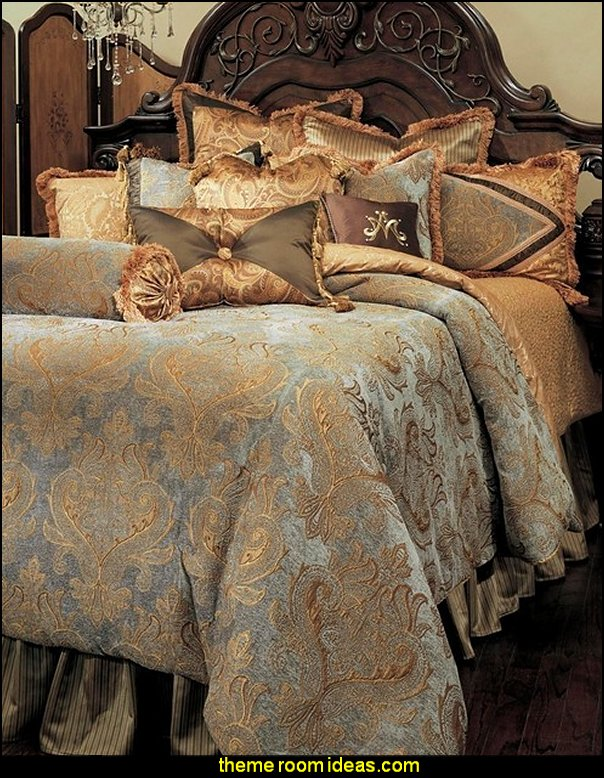 Elizabeth Comforter Set, King, 13-Piece Set   Luxury Bedding - decorating with luxury bedding -  boudoir bedrooms - Discount Luxury Bedding - Adult bedding - Luxury Duvet Covers - Luxury Comforter sets