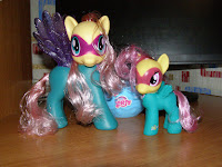 MLP Fake Power Ponies Fluttershy Comparison