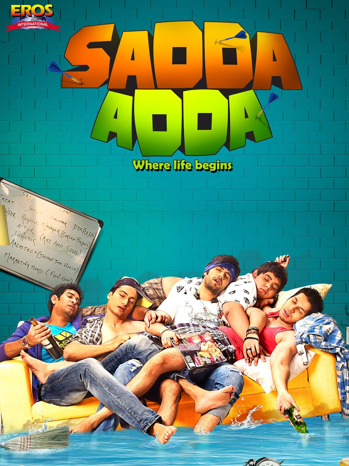 Sadda Adda 2012 full hd Hindi Movie 480p HDRip 350MB ESubs