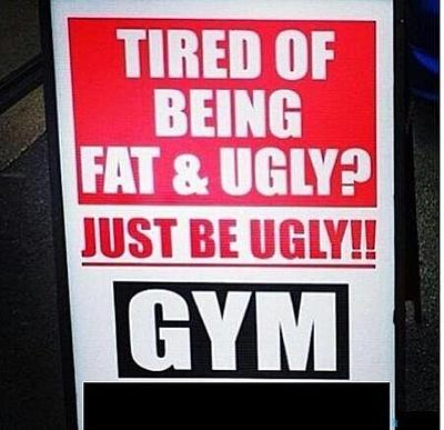 gym sign board