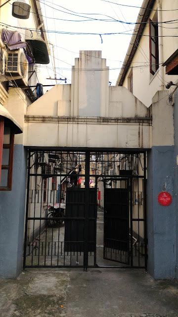 porte d'entrée d'un Longtang à Hongkou Shanghai