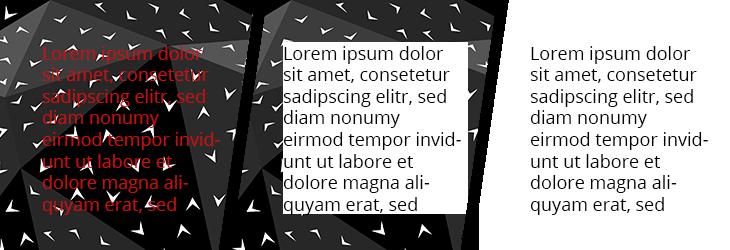 Gerade viel Text sollte einen einfachen Hintergrund haben. / Grafik © fieberherz.de