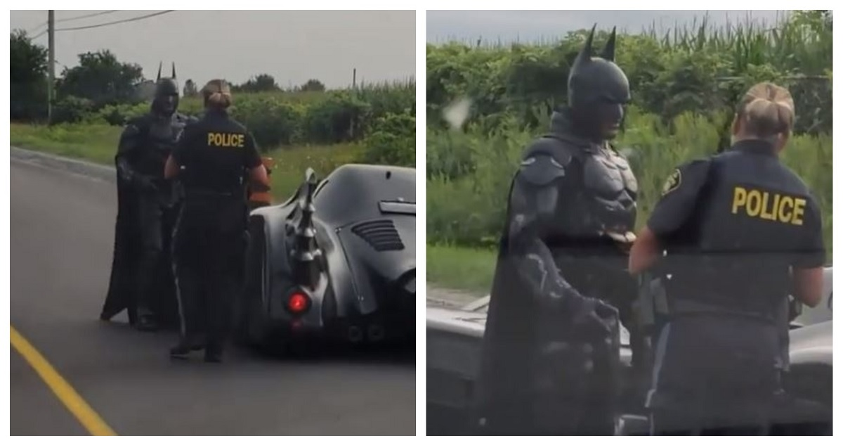 Video Of Batman In His Batmobile Getting Pulled Over By Canadian Police Goes Viral