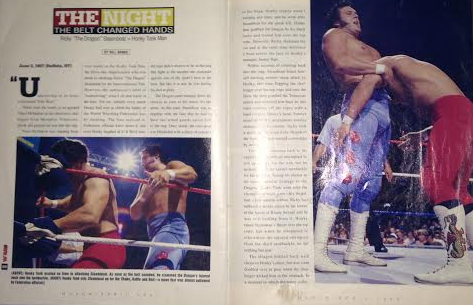 WWE - WWF RAW MAGAZINE 1997: The night Honky Tonk Man beat Ricky Steamboat 1
