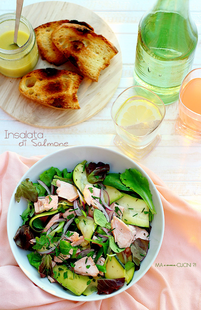 insalata di salmone-salmon salad