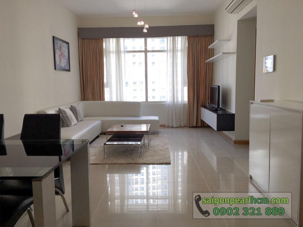 Saigon Pearl Ruby 2 cho thuê căn hộ 2PN lầu cao